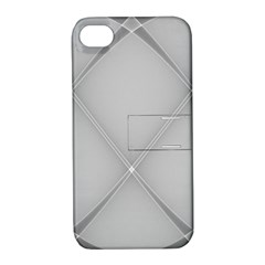 Background Light Glow White Grey Apple Iphone 4/4s Hardshell Case With Stand