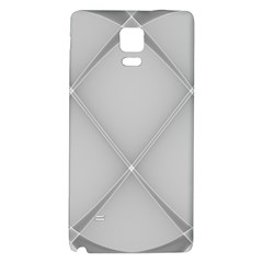 Background Light Glow White Grey Galaxy Note 4 Back Case by Nexatart