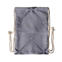 Background Light Glow White Grey Drawstring Bag (small)