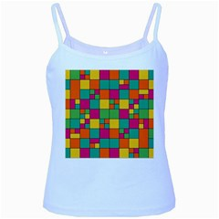 Abstract Background Abstract Baby Blue Spaghetti Tank