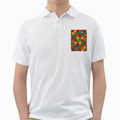 Abstract Background Abstract Golf Shirts