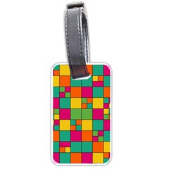 Abstract Background Abstract Luggage Tags (one Side)