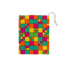 Abstract Background Abstract Drawstring Pouches (small)