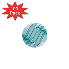 Background Light Glow Blue 1  Mini Magnets (100 Pack)