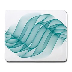 Background Light Glow Blue Large Mousepads