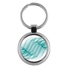 Background Light Glow Blue Key Chains (round)