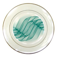 Background Light Glow Blue Porcelain Plates