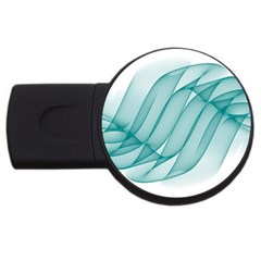 Background Light Glow Blue Usb Flash Drive Round (4 Gb)