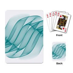 Background Light Glow Blue Playing Card
