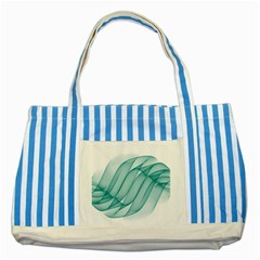 Background Light Glow Blue Striped Blue Tote Bag