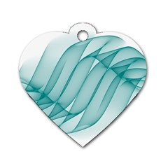 Background Light Glow Blue Dog Tag Heart (two Sides)