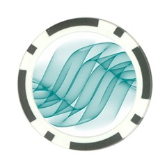 Background Light Glow Blue Poker Chip Card Guard (10 Pack)