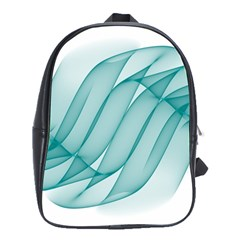 Background Light Glow Blue School Bag (large)