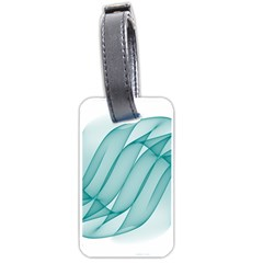Background Light Glow Blue Luggage Tags (one Side)