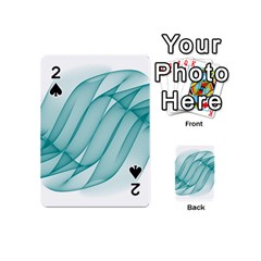 Background Light Glow Blue Playing Cards 54 (mini)