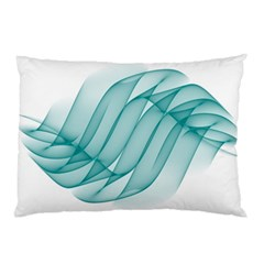 Background Light Glow Blue Pillow Case (two Sides)