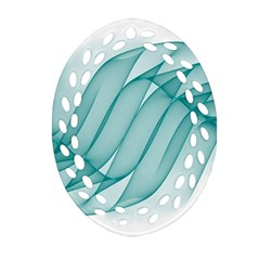 Background Light Glow Blue Ornament (oval Filigree)