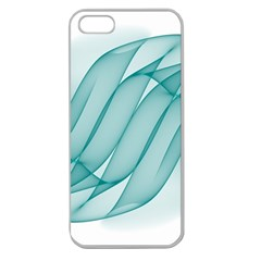 Background Light Glow Blue Apple Seamless Iphone 5 Case (clear)