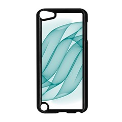 Background Light Glow Blue Apple Ipod Touch 5 Case (black)