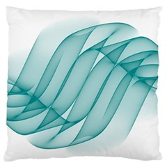 Background Light Glow Blue Standard Flano Cushion Case (one Side)