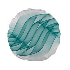 Background Light Glow Blue Standard 15  Premium Flano Round Cushions