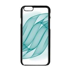 Background Light Glow Blue Apple Iphone 6/6s Black Enamel Case