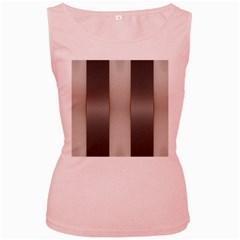 Wall Steel Ivory Creative Texture Women s Pink Tank Top