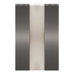 Wall Steel Ivory Creative Texture Shower Curtain 48  X 72  (small)  by Nexatart