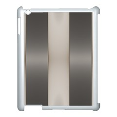 Wall Steel Ivory Creative Texture Apple Ipad 3/4 Case (white) by Nexatart