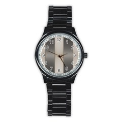Wall Steel Ivory Creative Texture Stainless Steel Round Watch