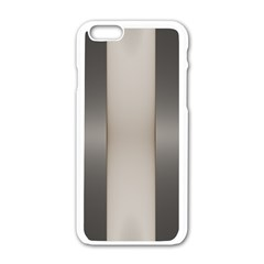 Wall Steel Ivory Creative Texture Apple Iphone 6/6s White Enamel Case