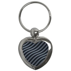 Metal Steel Stripped Creative Key Chains (heart)