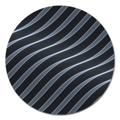Metal Steel Stripped Creative Magnet 5  (round)