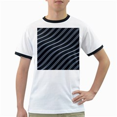 Metal Steel Stripped Creative Ringer T Shirts