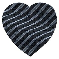 Metal Steel Stripped Creative Jigsaw Puzzle (heart)