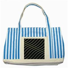 Metal Steel Stripped Creative Striped Blue Tote Bag