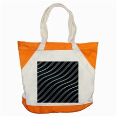 Metal Steel Stripped Creative Accent Tote Bag