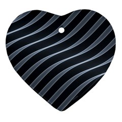 Metal Steel Stripped Creative Heart Ornament (two Sides)