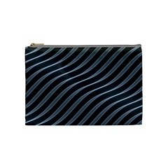 Metal Steel Stripped Creative Cosmetic Bag (medium)