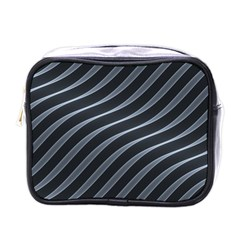 Metal Steel Stripped Creative Mini Toiletries Bags