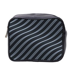 Metal Steel Stripped Creative Mini Toiletries Bag 2 Side