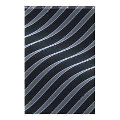 Metal Steel Stripped Creative Shower Curtain 48  X 72  (small)