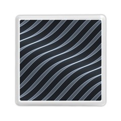 Metal Steel Stripped Creative Memory Card Reader (square)