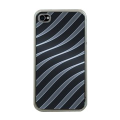 Metal Steel Stripped Creative Apple Iphone 4 Case (clear)
