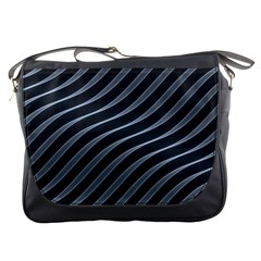Metal Steel Stripped Creative Messenger Bags