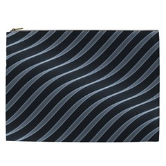 Metal Steel Stripped Creative Cosmetic Bag (xxl)