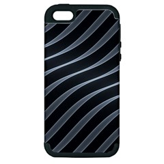Metal Steel Stripped Creative Apple Iphone 5 Hardshell Case (pc+silicone)