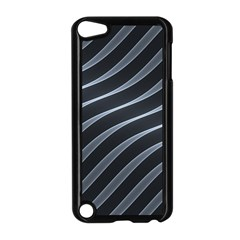 Metal Steel Stripped Creative Apple Ipod Touch 5 Case (black)