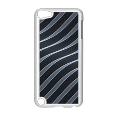 Metal Steel Stripped Creative Apple Ipod Touch 5 Case (white)