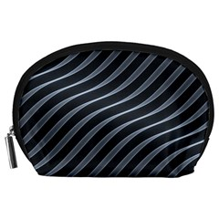 Metal Steel Stripped Creative Accessory Pouches (large)